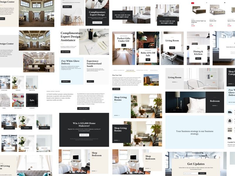Style Concepting unsplash online store shopping furniture frame block concept website soleil warnock clean modern