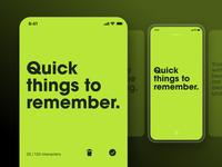 Minimalistic App