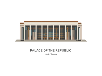 Palace of the Republic, Minsk, Belarus vector belarus minsk palace of the republic