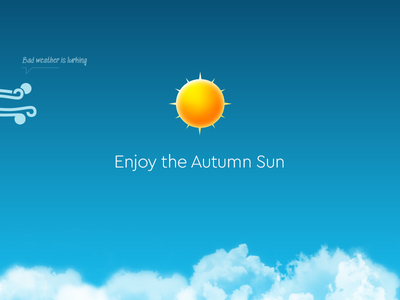 Autumn Weather Icons happyfriday illustration bad weather clouds sun wind fall autumn icons