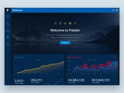 Dashboard Social Video Monetization Web App UI Design