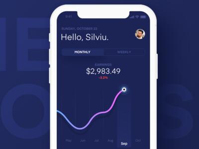 Dashboard Mobile App - sneak peak 1