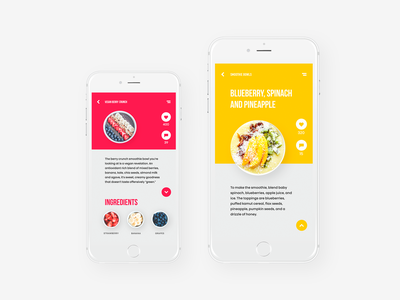 Tubik Studio | Healthy Food App app food animation motion photo minimal red white interface ios ux ui
