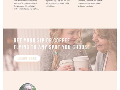 Tubik Studio | Coffee Wings scroll drone coffee animation motion minimalistic minimal landing interface web ux ui