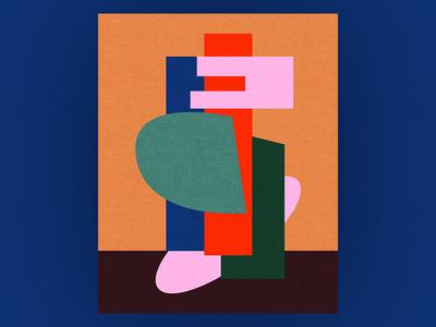 Shape Sculpture geometry color sculpture abstract illustration