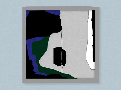 Abstract lines frame poster fine art painting lines colors shapes abstract