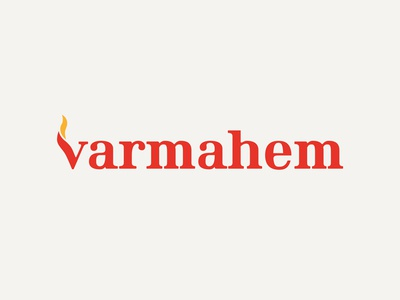 Logo - Varmahem symbol warm fire logotype logo