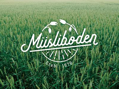 Logo idea - Müsliboden oats wellness farming agroculture agro muesli myssli müsli logotype logo