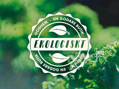 Eco-friendly agricultural farming eco-friendly symbol logo label badge stamp