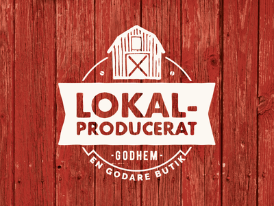 Locally produced barn agricultural farming eco-friendly symbol logo label badge stamp