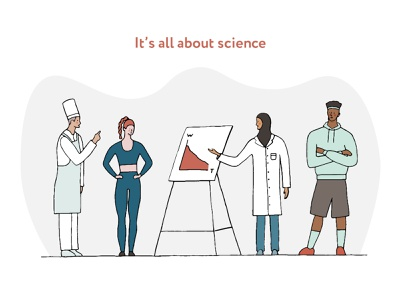 It's all about science chef science doctor characterdesign simple procreate vector colorful character 2d flat dribbble illustration