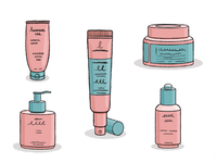 Icons for beauty products