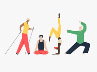 [1/4] Healthy lifestyle Illustrations for Macrovector
