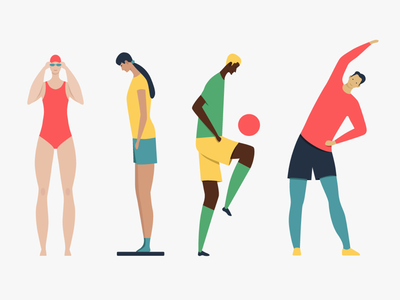 [3/4] Healthy lifestyle Illustrations for Macrovector