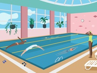 Swim pool illustration