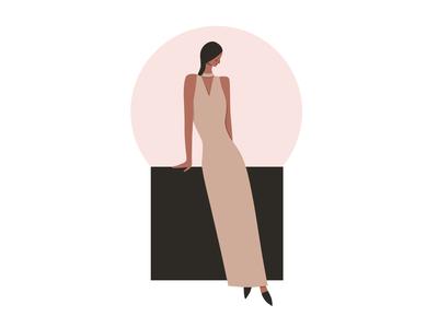 Stylish lady style girl affinitydesigner inspiration fashion cute characterdesign digitalart vector colorful character 2d flat dribbble illustration