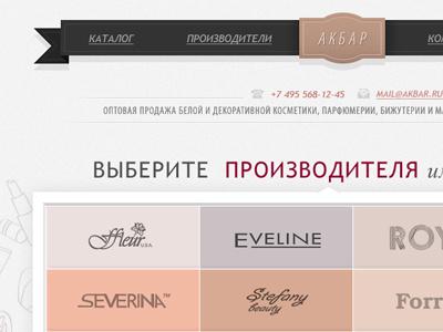 Cosmetics indestudio web interface
