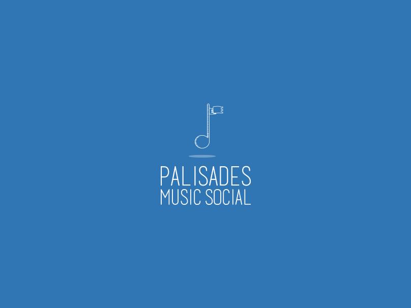 Palisades Music Social music vector branding design logo illustration