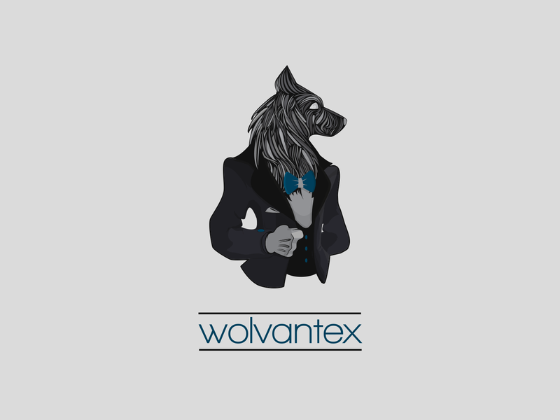 Wolvantex animal wolf vector branding logo design illustration