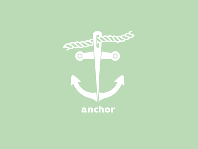 ThirtyLogos Challenge - Day 10 - anchor needle rope clothing sewing anchor challenge corporate design logo logo challenge logo design thirty logos