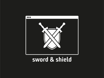 ThirtyLogos Challenge - Day 12 - sword & shield protection software malware shield sword thirty logos logo design logo challenge logo corporate design challenge