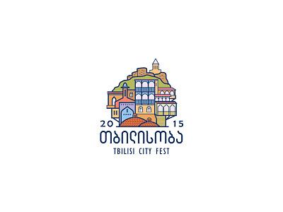 Tbilisi City Fest 2015 logo house old city georgia tbilisi