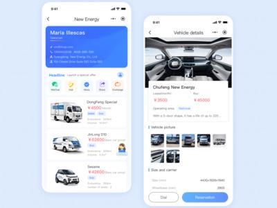 New energy car rental