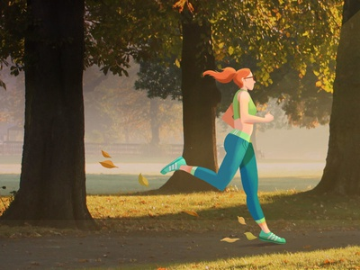 Discovery H&H Concept exercise 2d character animation health runner