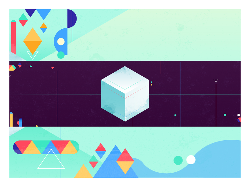 Partner Plex geometric geometry cube google vector design 2d