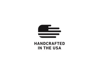 Handcrafted in the USA made in america usa handcrafted icon logo