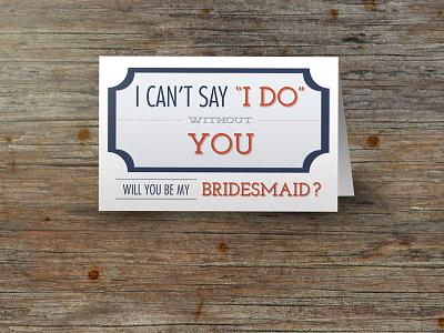 Bridesmaid Invitations design photoshop wedding bridesmaid orange blue wood