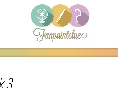 Fanpaintclue rainbow color circles flat illustrator logo design
