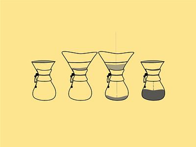 Chemex chemex icons illustration coffee vector