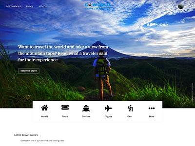 Go Travel Mockup travel agency web design adobe xd