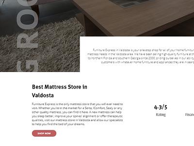 Furniture Express Redesign adobe xd ui  ux web design