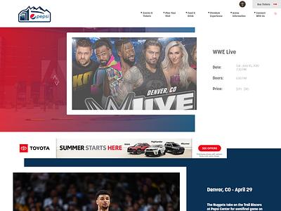Pepsi Center Redesign adobe xd ui  ux web design