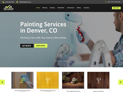 Craft Painting business website painters painting company website web ui ux design ui  ux adobe xd web design