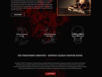 Frightmare Compound Mock haunted house ux ui business website ui  ux adobe xd web design website