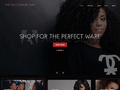 E Commerce Homepage ux ui  ux ui adobe xd business website web design website ecommerce design