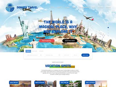 Travel Agency Web Design travel agency ux ui ui  ux adobe xd web design