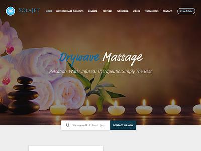 Homepage SolaJet Fold business website web design ui  ux adobe xd