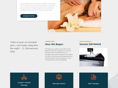 SolaJet Pt. 2 web design ui  ux adobe xd