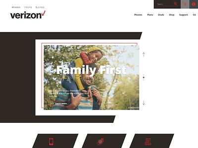 Verizon Wireless Website Redesign Mock adobe xd ui  ux web design verizon