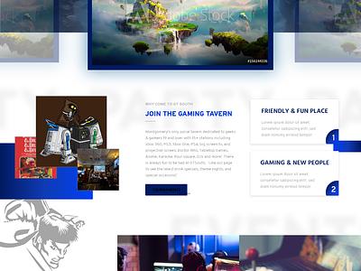 Gaming Tavern Website adobe xd ui ux web design gaming tavern bar