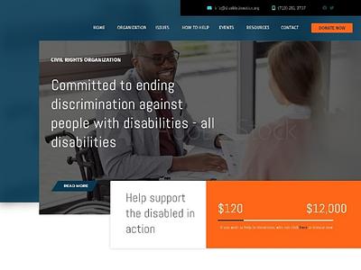 Non-profit Organization Theme ux ui website adobe xd non-profit organization