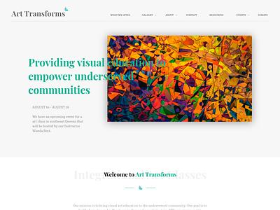 Art Transforms Inc. Prototype prototype ui  ux web design adobe xd