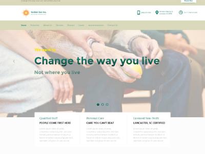 Nonprofit Adult Day Care service adobe xd web design non-profit