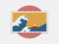 Travel of Stamp—Kanagawa