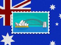 Travel of Stamp—Sydney