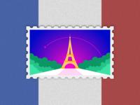 Travel of Stamp—Paris